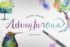 Adventurous Script is a hand written script, written with a brush pen. Ideal for logos, name tag, handwritten quotes, product packaging, merchandise, ...