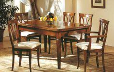 Tavolo rettangolare allungabile al centro in noce Art.2813 http://www.sedieetavoli.net/arredamento-classico/tavoli-classici/  #tavolo #arredamento #classico #tavoliclassici