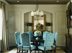 Make a Small Dining Room Look Larger Visually expand a small dining room by keeping the palette monochromatic and furnishing it with a round table and armless dining chairs. Description from pinterest.com. I searched for this on bing.com/images