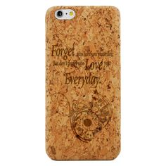 Inspirational Love Quote- Laser Engraved Wood Phone Case (Maple,Cherry,Black,Cork)