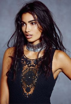 Kelly Gale.   Gorgeous dress and necklace.