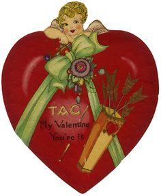 San Valentín, tarjetas antiguas, vintage, amor