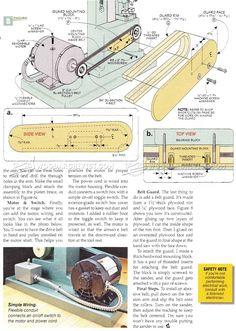 Belt Sander Plans - Sanding Wood Sharpening