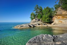 """""""Michigan's Caribbean""""  (The Coves)  Pictured Rocks National Lakeshore by Michigan Nut, via Flickr"""