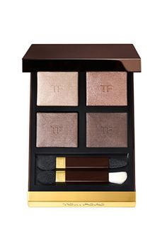 Tom Ford Eyeshadow Quad  Eyeshadow is one of those makeup items that has always perplexed me--I still am not sure how to use it. But for my wedding, makeup artist Nina Park steered me towards this palette and I loved it. The colors are elegant and understated, and work all together or separately. More often than not I just use the darkest shade as a liner and the lightest as a highlighter. Fingers are the correct way to apply this stuff right.- Leah Chernikoff, ELLE.com Editorial Director