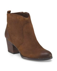 Leather Huette Western Bootie