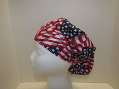 American Flag Old Glory july 4th Bouffant Surgical by TipTopLids, $15.00