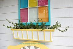 DIY Window Box planter but on my privacy fence. Add shutters?