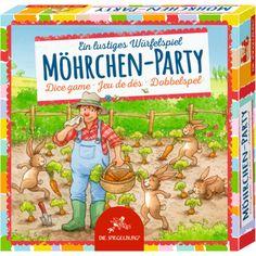 Würfelspiel für Kinder Möhrchen-Party