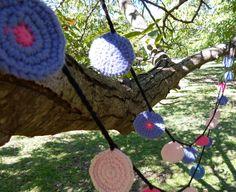 Guirnalda Círculos Algodón Tejida A Mano Al Crochet Multicolor