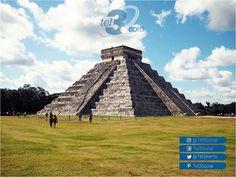 """El Chichén Iztá (en maya """"la boca del pozo de los Itzá"""") es una de las siete nuevas maravillas del mundo localizada en #México - #Yucatán. Actualmente es Patrimonio de la Humanidad por la UNESCO en español y uno de los destinos turísticos más visitados. #Tel3 te ofrece la tarifa más baja del mercado para llamar a #Mexico, tan solo 1.2c por minuto llama YA!, para mayor información haz click aquí http://j.mp/2eoDgZO"""