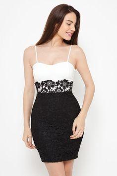 Vestido blanco y negro Letícia
