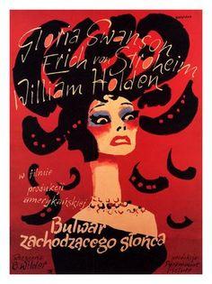 AP1056 - Sunset Boulevard, Billy Wilder, Movie Poster 1950s (30x40cm Art Print)
