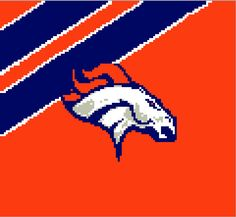 Denver Broncos Graph/Chart by knitcreations86 on Etsy
