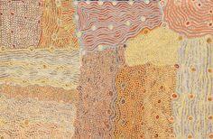 Maringka Burton, Anamaruku Piti Tjuta (Caterpillar Dreaming), 2014, acrylic on canvas, 101 x 152 cm. Iwantja Arts. For more Abrooginal art visit us at www.mccullochandmcculloch.com.au #aboriginalart #australianart #contemporaryart