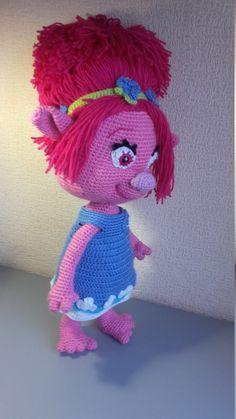 Troll Poppy Crochet Doll Amigurumi Poppy  Pritrncess by VIKcraft
