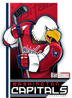 Fabulously wicked eagle mascot for the Washington Capitals, courtesy of Eric Poole. More of his work at http://epoole88.tumblr.com