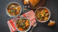 Poh's Classic Beef & Vegetable Soup - Harris Scarfe Cook N, No Cook Meals, Beef Recipes, Soup Recipes, Yummy Recipes, Vegetable Crisps, Veg Soup, Bowl Of Soup, Pressure Cooking