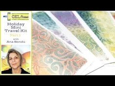 (1849) My Gel Press Holiday Mini Travel Kit - Part One by Ana Bondu - YouTube Gel Press, Travel Kits, Paper Crafts, Teaching, Art Prints, Mini, Holiday, Youtube, Plate