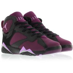 Jordan AIR JORDAN 7 RETRO (GG) MULBERRY ($110) ❤ liked on Polyvore featuring shoes