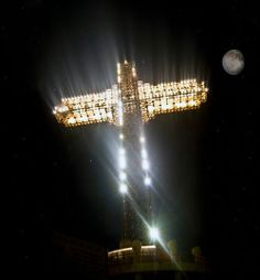 The Millennium Cross is a 66 metre-high cross situated on the top of the Vodno Mountain in Skopje, Republic of Macedonia. It was constructed to serve as a memorial of 2,000 years of Christianity in Macedonia and the world.