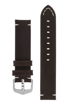 dc26f66c8c9 Hirsch RANGER Retro Leather Parallel Watch Strap in BROWN