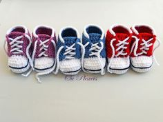 Baby sneakers crochet converse shoes baby sport shoes by Ouplexeis