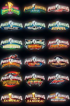 All the Power Rangers TV Seasons! I know I'm 16 and I don't care but I still watch these!