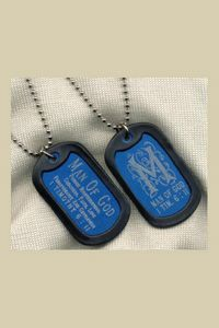 Double Sided Engraved Dog Tags 1 Timothy 6:11  $9.95 http://www.celebrateyourfaith.com/Double-Sided-Engraved-Dog-Tags-1-Timothy-6-58-11-P6295C166.cfm