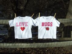 Cute V-day shirts for the Twins!