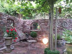 bildergebnis für steinmauer garten sichtschutz | gartenmöbel-/deko, Hause und Garten