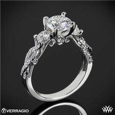 Verragio Twisted Shank 3 Stone Engagement Ring