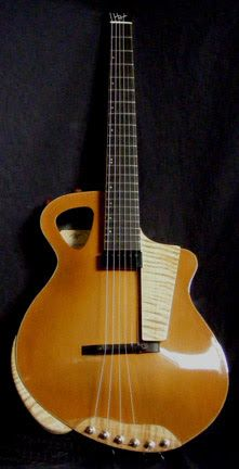 RT Custom Guitars headless archtop