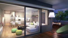 Modern apartment interior visualization in 3d Visualization, Apartment Interior, Luxury Apartments, Terraces, Urban, Furniture, Design, Home Decor, Modern Condo