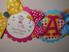 Chic Embossed LaLaLoopsy Party Collection Name by DukesandDivas, $18.00