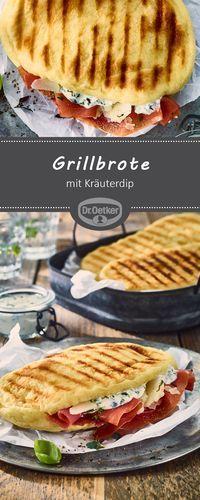 Grillbrote mit Kräuterdip: Kleine Brote aus Hefeteig, dazu ein leckerer Dip mit frischen Kräutern #grillbrot #kräuterdip #grillen