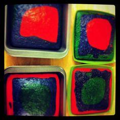 Rainbow cake pre decorated