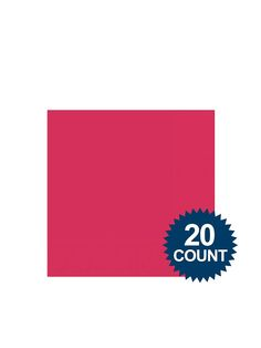 Hot Pink 3-Ply Beverage Napkins, 20 ct. - Napkins Party Supplies