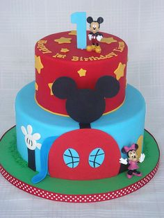 Mickey Mouse Clubhouse Cake by springlakecake, via Flickr