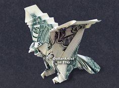 EAGLE Money Origami  Dollar Bill Cash  Animal  by DollarArtist