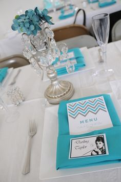 Tiffany & Co. themed Bridal Shower tablesetting