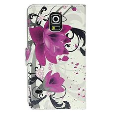 Samsung Galaxy S5 Flip Cover Graceful Rose Flower Stand Leather Protective Case - Samsung S5 Cases