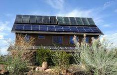 A net zero home using solar panels.