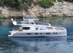 solarwave 64 catamaran luxury solar powered yacht for eco-friendly adventures. http://www.designboom.com/technology/solarwave-64-catamaran-luxury-solar-powered-yacht-01-16-2016/