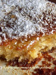 Σιροπιαστό κέικ καρύδας χωρίς αυγά και βούτυρο - cretangastronomy.gr