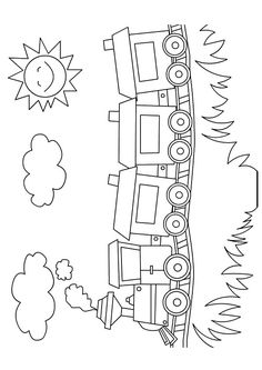 Here are the Beautiful Train Coloring Pages. This post about Beautiful Train Coloring Pages was posted under the Coloring Pages category at . Train Coloring Pages, Preschool Coloring Pages, Coloring Book Pages, Coloring Pages For Kids, Coloring Sheets, Adult Coloring, Art Drawings For Kids, Drawing For Kids, Easy Drawings