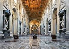Interno della Basilica di San Giovanni in Laterano, fondata da Costantino nel IV secolo