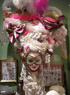 18th century Masqued Ball wig and mask --