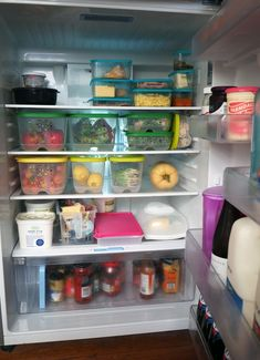 An organised fridge utilizes zones in a way that best suits the needs of the family