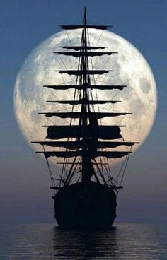 Brown ~ mighty sailing ship - this is a photo - I would love to paint it.Brown ~ mighty sailing ship - this is a photo - I would love to paint it. Beautiful Nature Wallpaper, Beautiful Moon, Moon Pictures, Nature Pictures, Beautiful Pictures, Boat Wallpaper, Old Sailing Ships, Ocean Sailing, Ship Drawing